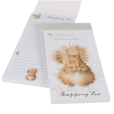 Wrendale Magnetic Shopping Pad - Red Squirrel