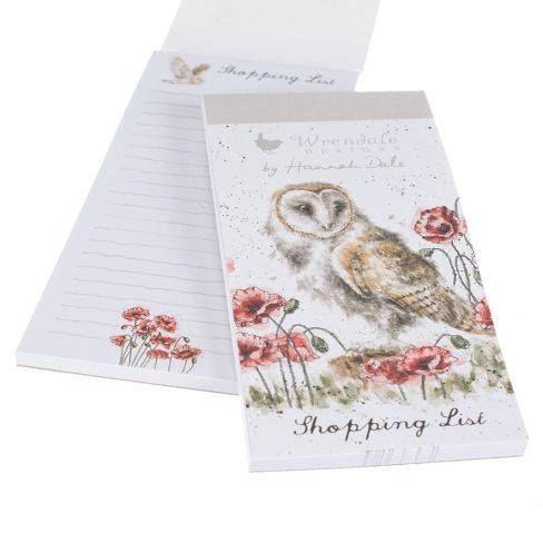 Wrendale Magnetic Shopping Pads - Barn Owl