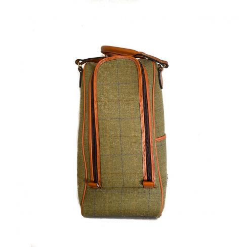 OT Tweed and Leather Boot Bag Green