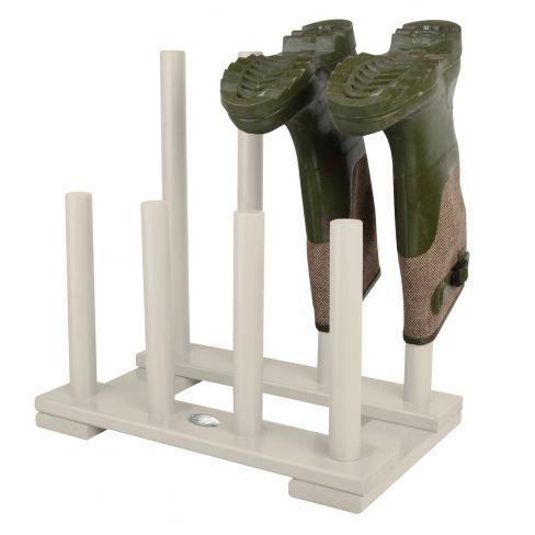 Wooden 4 Pair Boot Rack