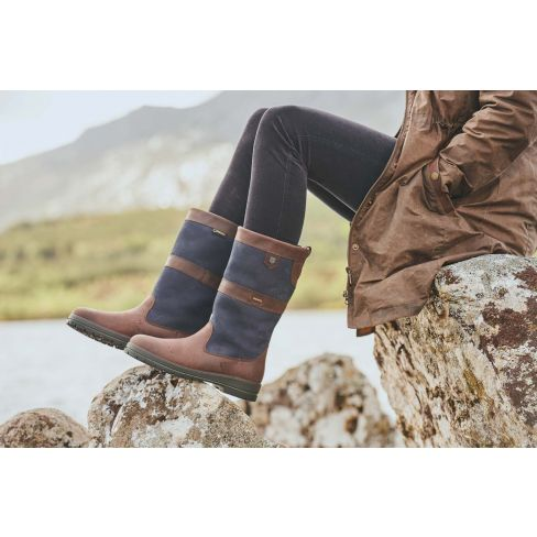 Dubarry Kildare Calf Height - Navy/Brown