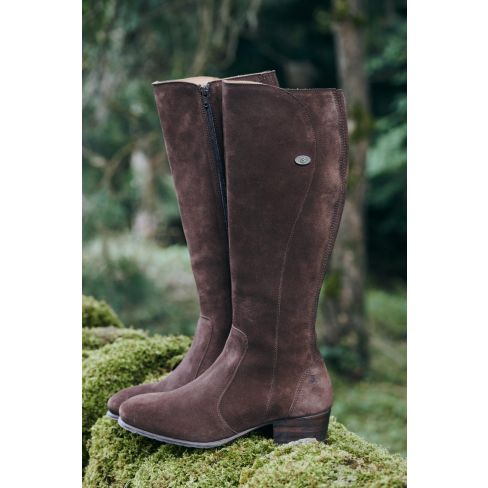 Dubarry Downpatrick Ladies Suede Knee High Boots - Cigar