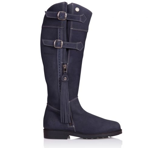 Ladies Lucianna Italian Leather Boots - Blue