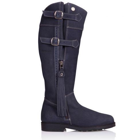 Ladies Lucianna Italian Leather Boots - Blue