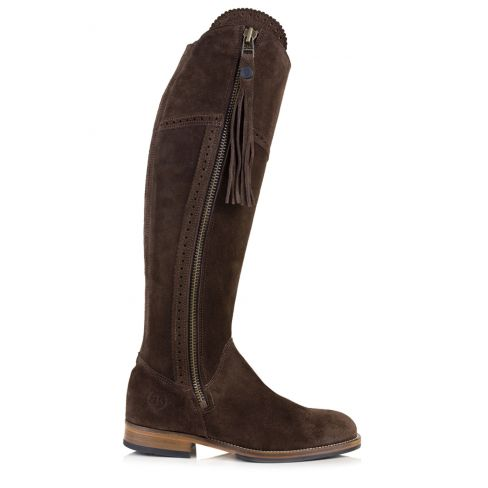 Ladies Spanish Style Boots with Tassel - Brown