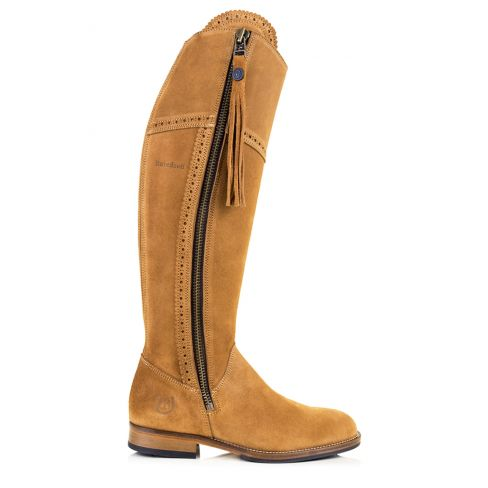 Ladies Spanish Style Boots with Tassel - Sand