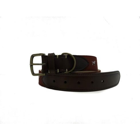 Silk and Leather Webbing Belt Dog