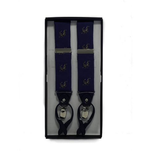 Silk and Leather Luxury Braces Rampant Hare