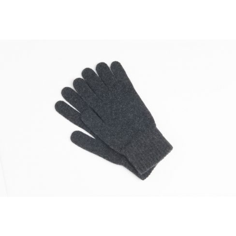 Lambswool Men's Goves - Charcoal