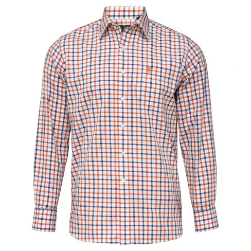 Alan Paine Ilkley Country Shirt Russet/Blue