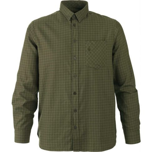Clayton Cotton Twill Shirt Ivy Green Check