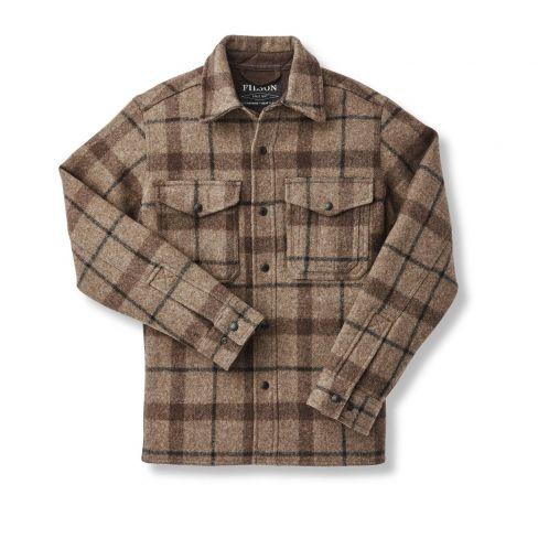 Filson Mackinaw Jac-Shirt  Taupe Brown Black Check