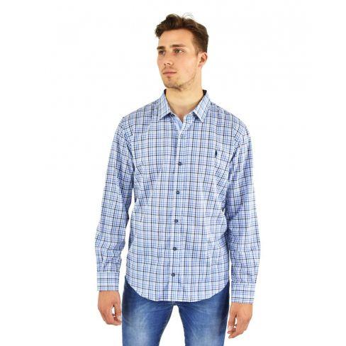 Monty Mens Shirt - Blue Field