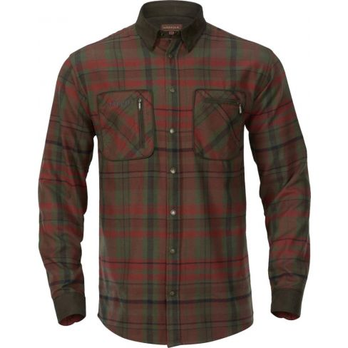 Harkila Pajala Shirt Red Autumn Check
