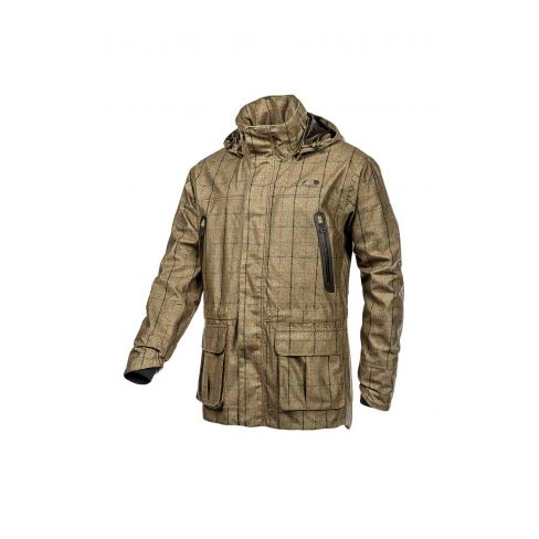 Baleno Moorland Khaki Tweed  Check Waterproof Jacket