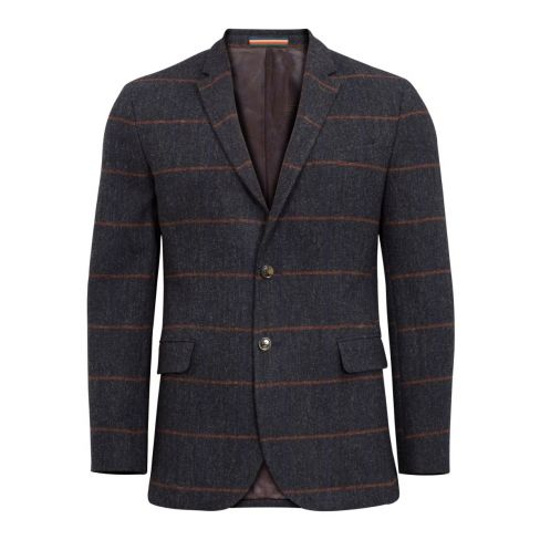 Alan Paine Surrey Tweed Blazer - Country Navy