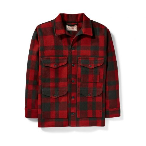 Filson Mackinaw Cruiser Jacket - Red Black Check