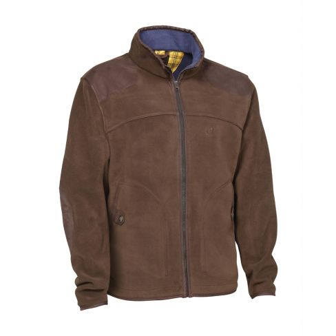 Stuart Two Layer Fleece Jacket Brown