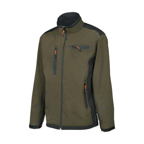 Softshell 3 Layer Shooting Jacket Waterproof and Breathable Khaki