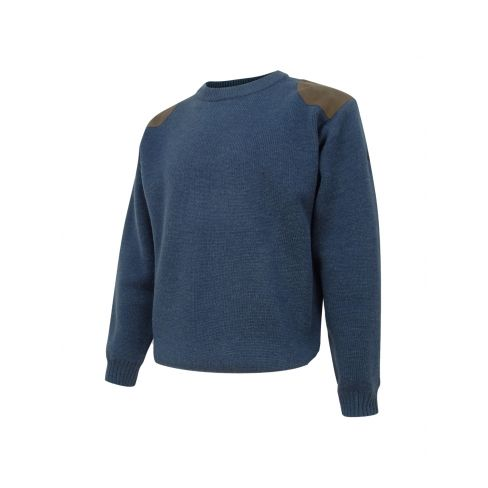 Hoggs of Fife - Melrose Hunting Pullover - Soft Marled Navy