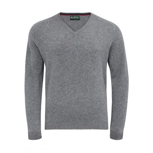 Streetly Vee Neck Pullover Grey mix