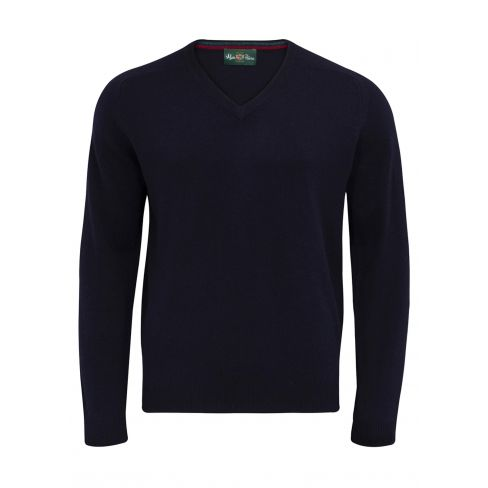 Streetly Vee Neck Pullover Navy
