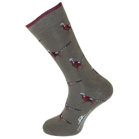 Dress Socks Pheasant Olive Green