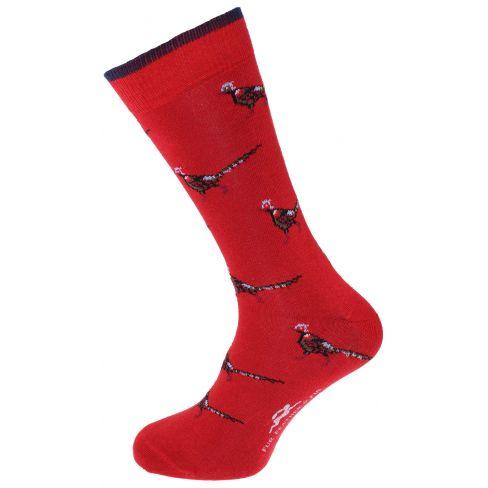 Dress Socks Pheasant Red