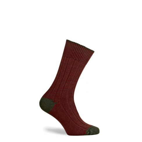 Dartmoor Merino Wool Mid Length Boot Socks Hunter
