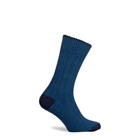 Dartmoor Merino Wool Mid Length Boot Socks Mid Navy