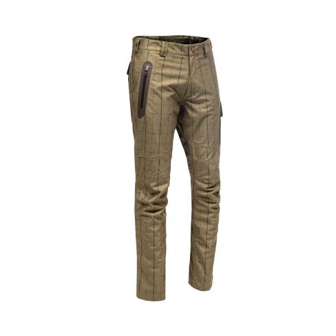 Baleno Holmes Khaki Tweed  Check Waterproof Trousers
