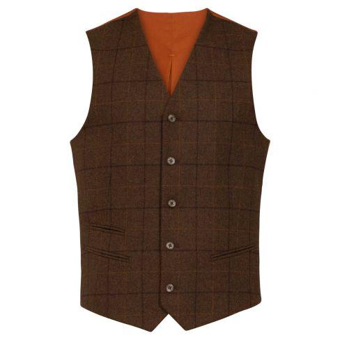 Alan Paine Combrook Mens Lined Waistcoat - Woodland