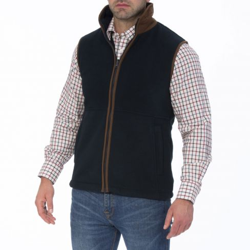 Alan Paine Aylsham Gents Fleece Gilet Burgundy
