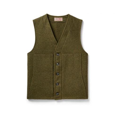 Mackinaw Wool Vest - Forest Green