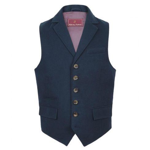 Bracken Moleskin Waistcoat - Navy