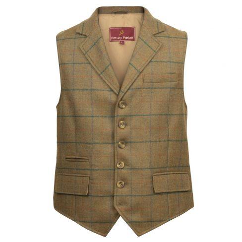 Tweed Bodmin Waistcoat - Olive