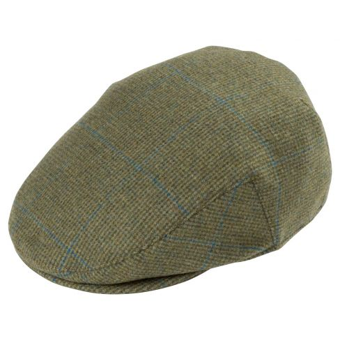 Alan Paine Combrook Waterproof Tweed Shooting Cap - Lagoon