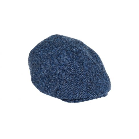 Harris Tweed Cap Blue/Black 8 Piece