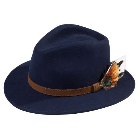 Richmond Unisex Felt Hat Navy