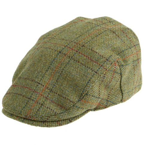 Kinloch Waterproof Tweed Cap Light Olive