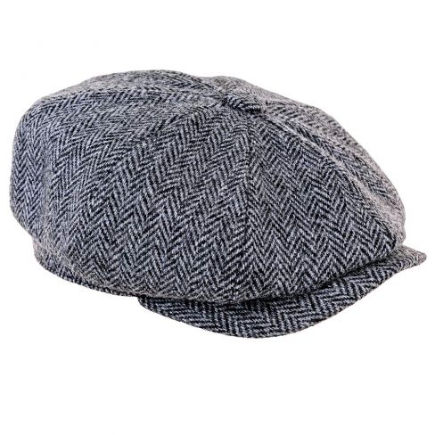 Peaky Blinders Harris Tweed Cap Dark Grey