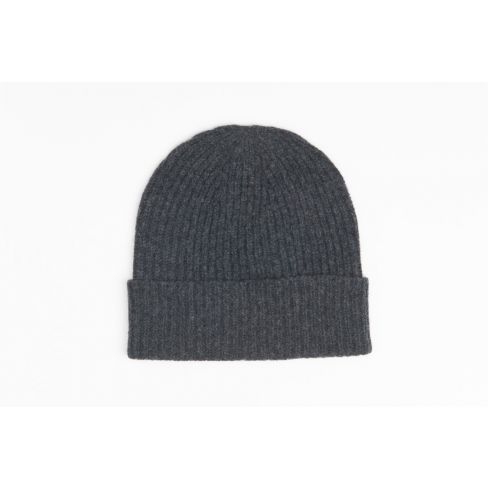 Men's Lambswool Beanie - Charcoal