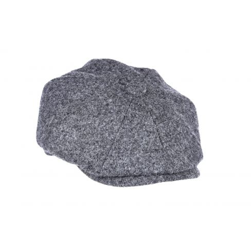 Twill Tweed 8 Piece Cap - Mid Grey