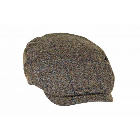 Extended Peak Tweed Cap - Navy