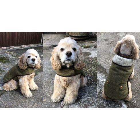 County Tweed Sherpa Dog Coat