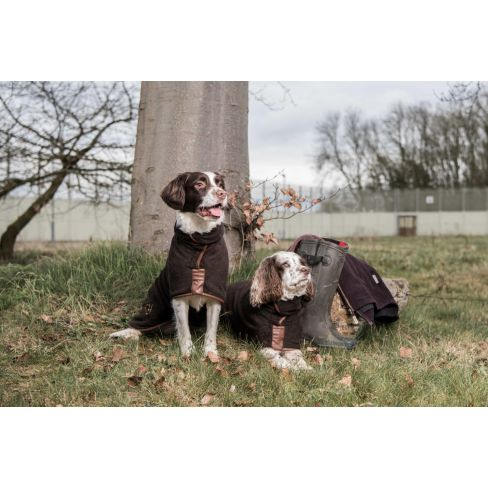 Country Collection Dog Drying Coat - Chocolate