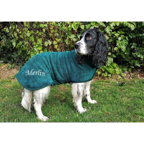 Classic Collection Dog Drying Coat Bottle Green