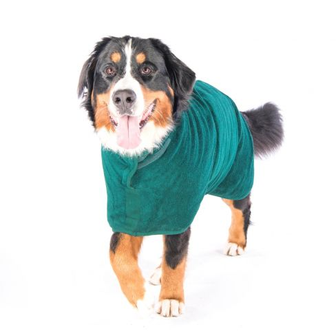 Classic Collection Dog Drying Coat - Bottle Green