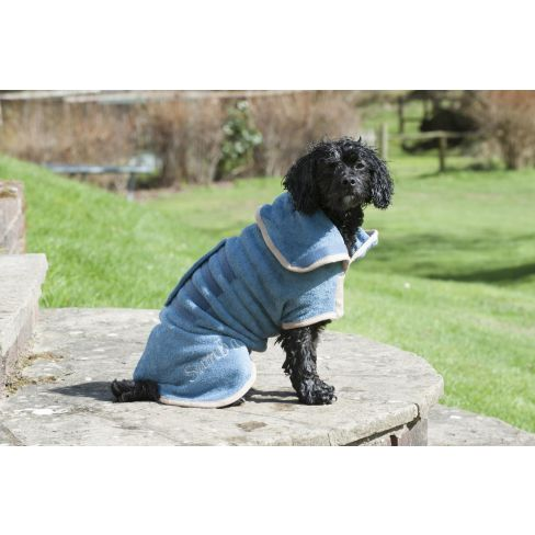 Classic Collection Dog Drying Coat Sandringham Blue