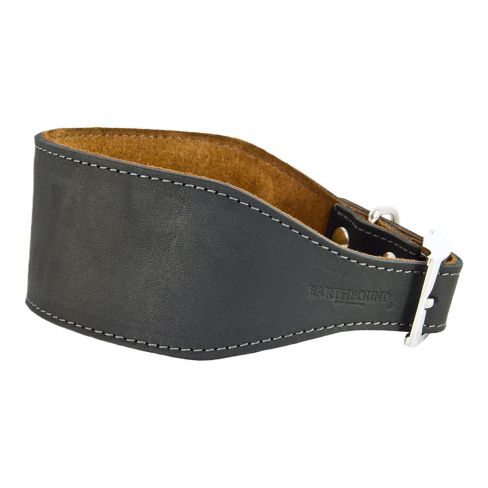 Leather Whippet/Greyhound Collar - Black